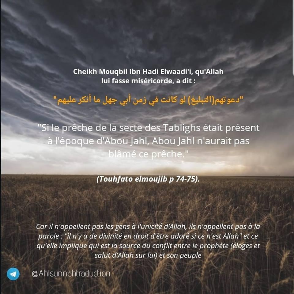 le prêche de la secte des tablighs