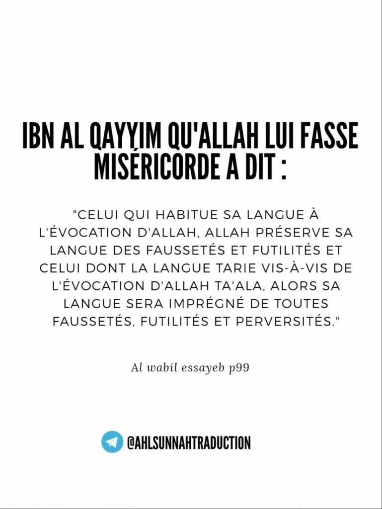 Les bénéfices d'habituer sa langue à l'évocation d'Allah