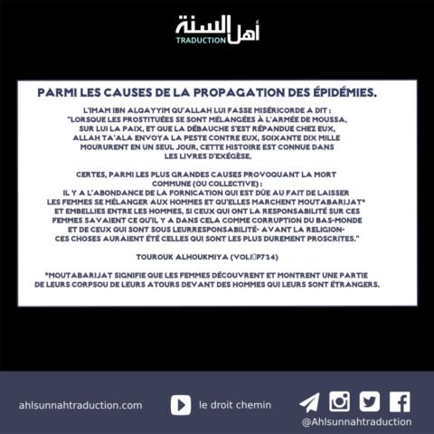 Parmi les causes de la propagation des épidémies.