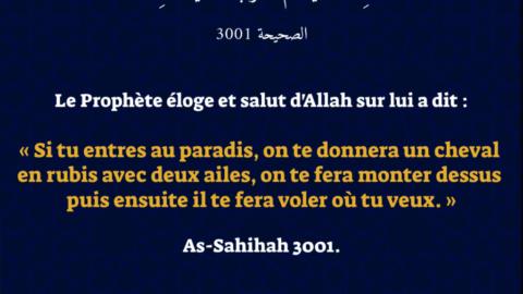 Hadith : «Si tu entres au paradis…»