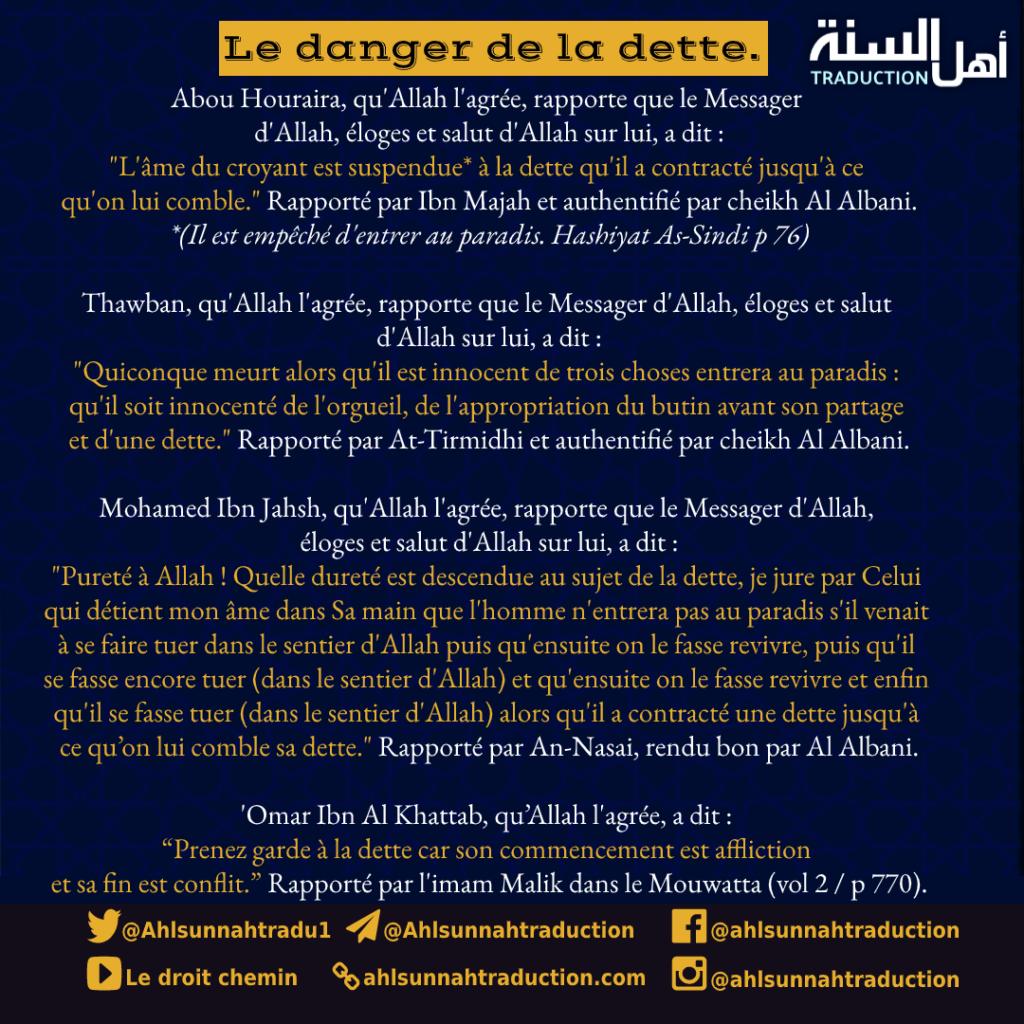 Le danger des dettes.