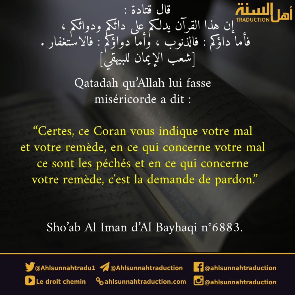 Ce Coran vous indique votre mal et votre remède.