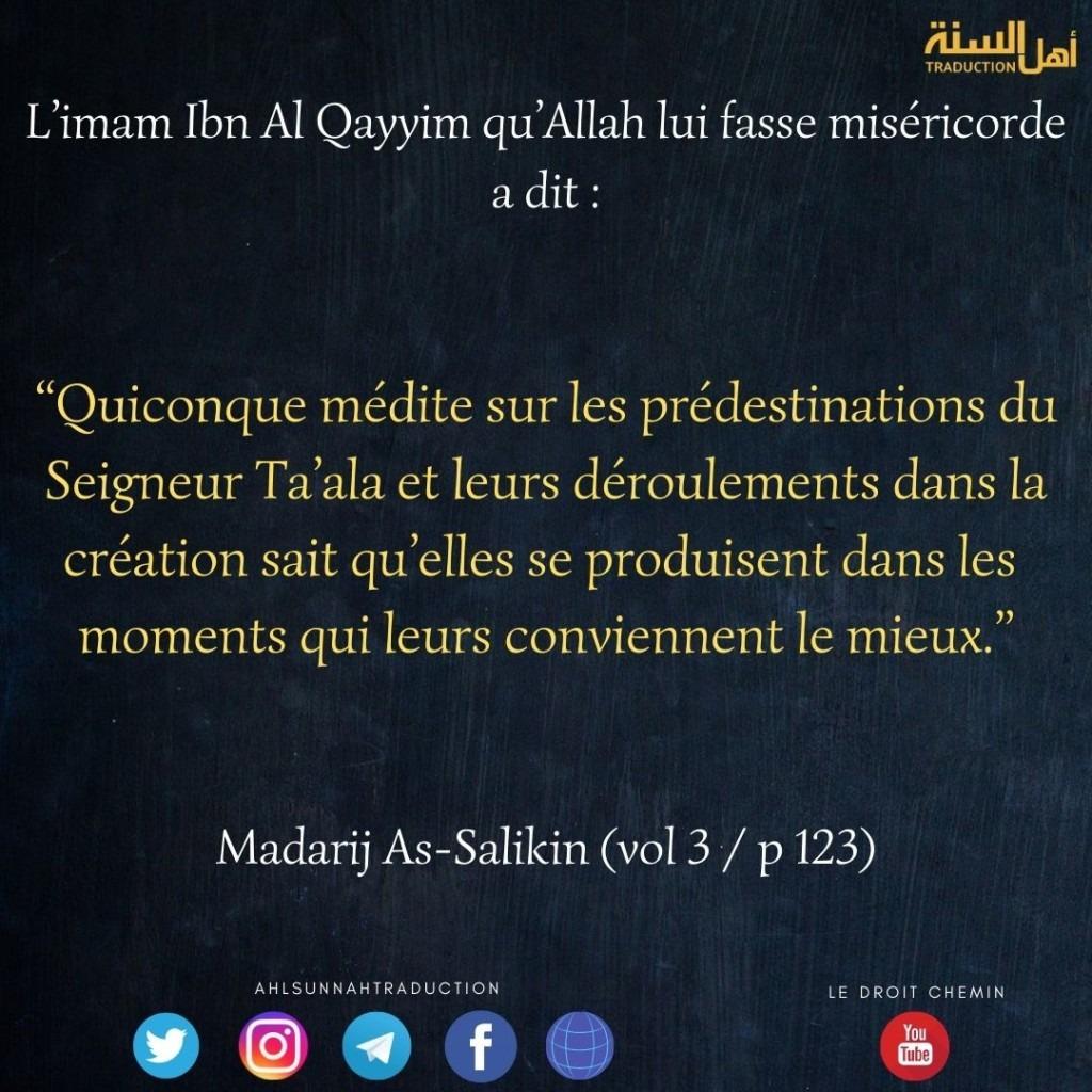 Les predestinations d'Allah se produisent dans les moments qui leurs conviennent le mieux.