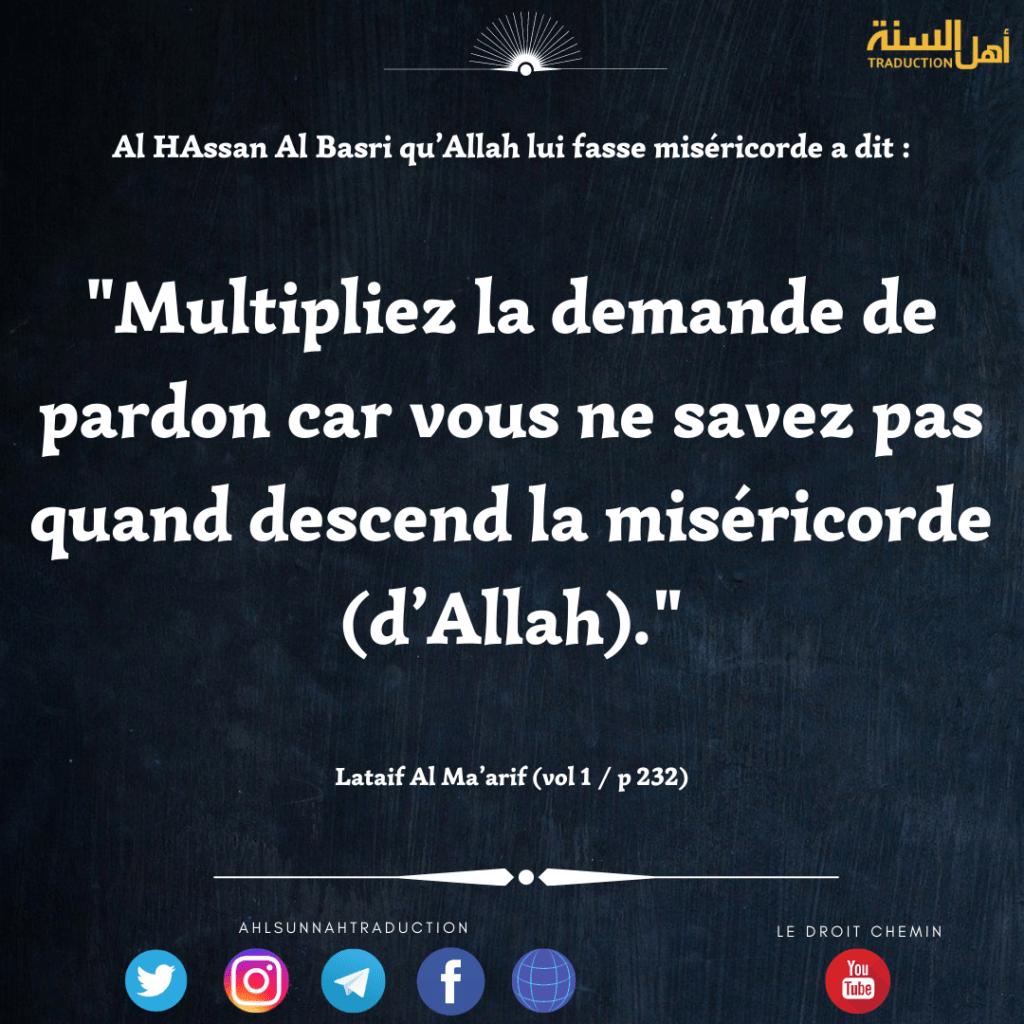 Exhortation d'Al Hassan Al Basri.